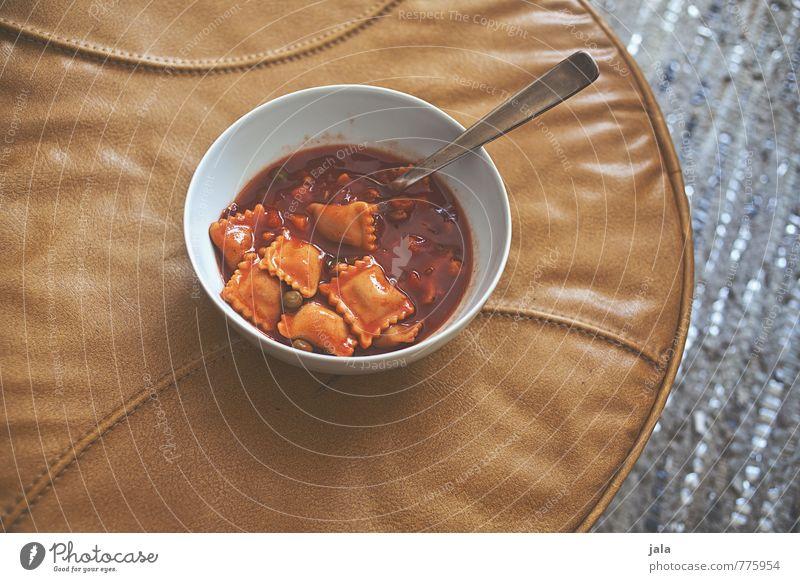 ravioli Lebensmittel Ernährung einfach lecker Bioprodukte Geschirr Schalen & Schüsseln Backwaren Abendessen Teigwaren Vegetarische Ernährung Besteck Löffel