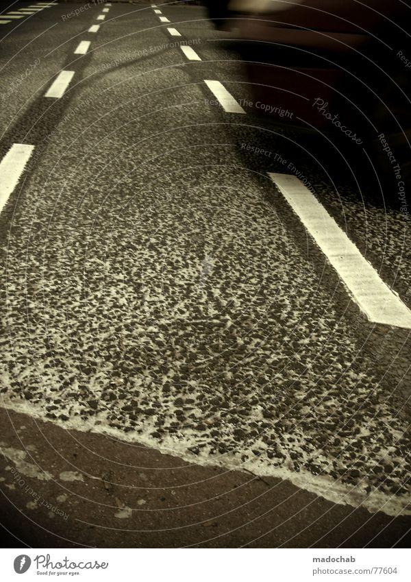 MOVE Verkehr graphisch Asphalt grau unten Fußgänger trist Muster Hintergrundbild Strukturen & Formen Quadrat weiß gefährlich Angst Panik Linie lines Straße
