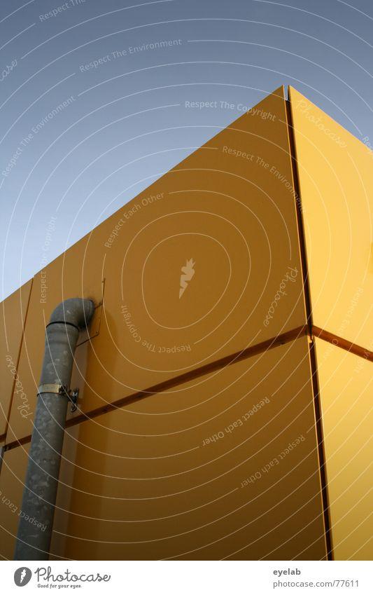 Die Schöne & das Biest Fenster Wand Gebäude Haus Hochhaus gelb Hoffnung Muster Himmel Fallrohr Fliesen u. Kacheln tile window building orange hope stylish