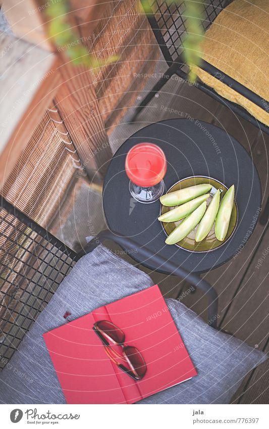 terrasse Lebensmittel Frucht Melonen Melonenschiffchen Picknick Bioprodukte Vegetarische Ernährung Fingerfood Getränk Erfrischungsgetränk Limonade Saft Geschirr