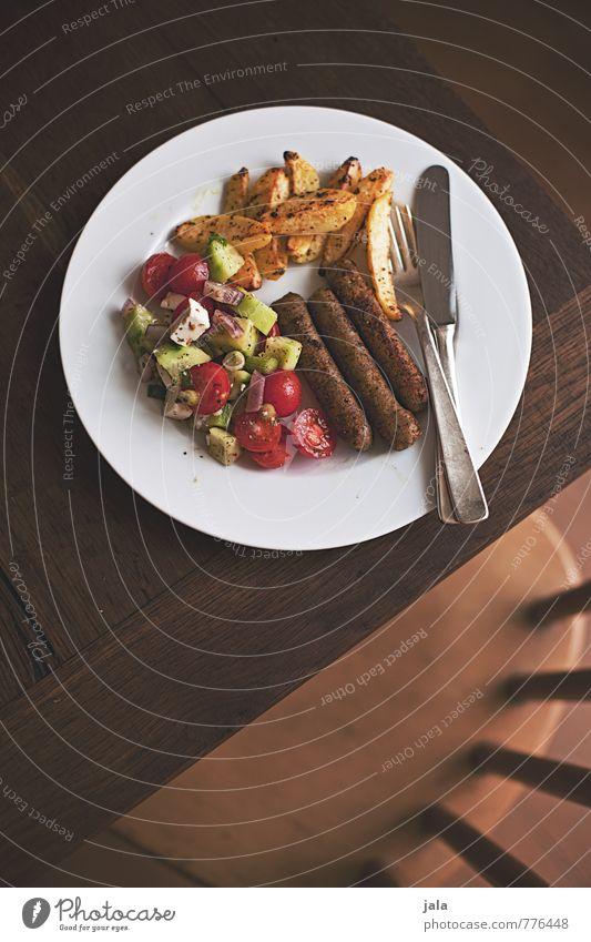 sommerküche Gesunde Ernährung natürlich Gesundheit Lebensmittel frisch Tisch Stuhl gut Gemüse lecker Appetit & Hunger Bioprodukte Teller Messer Mittagessen