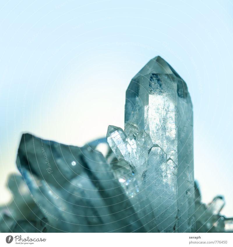 Bergkristall Quarz Felsen Kristallstrukturen Kristalle Mineralien Stein Makroaufnahme gemstone sparkling glänzend Strukturen & Formen Geologie Schmuck