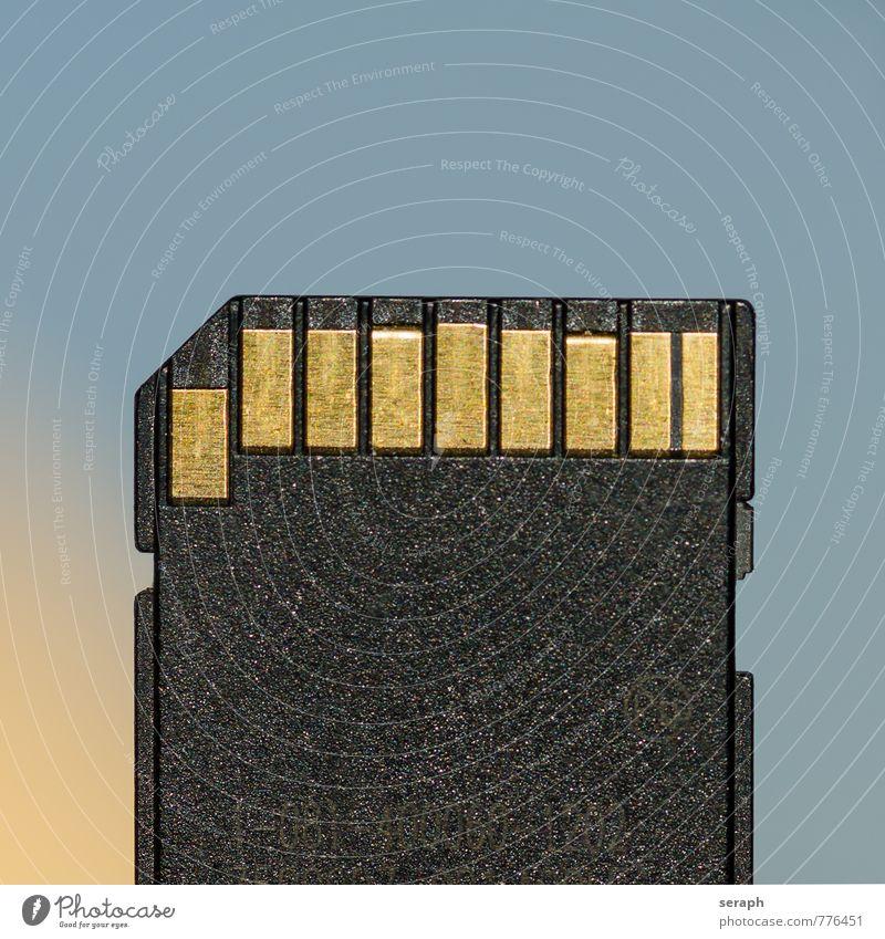 SD-Card Computer Telekommunikation Postkarte Information Medien Teile u. Stücke Fotokamera Gerät Lager Erinnerung Geborgenheit digital sparen Accessoire