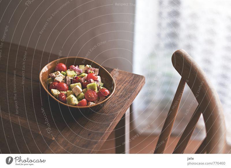 beilage Lebensmittel Gemüse Salat Salatbeilage Tomate Gurke Schafskäse Ernährung Mittagessen Bioprodukte Vegetarische Ernährung Schalen & Schüsseln