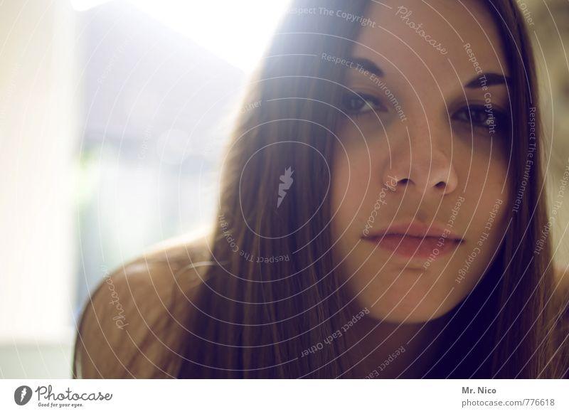 haarig | (°_°) Lifestyle feminin Junge Frau Jugendliche Haare & Frisuren Gesicht 1 Mensch 13-18 Jahre Kind brünett langhaarig nachdenklich beobachten Müdigkeit