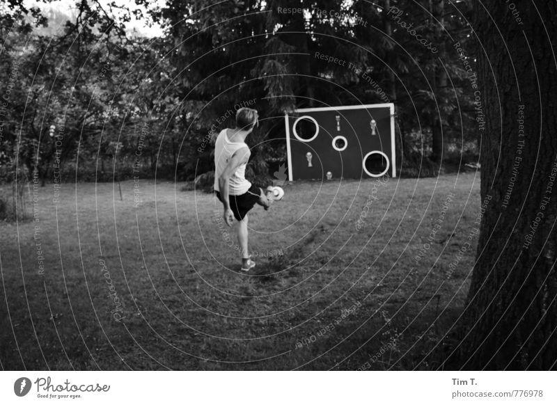 Torwand Lifestyle Spielen Sport Fitness Sport-Training Ballsport Fußball Sportstätten Mensch maskulin Junger Mann Jugendliche Körper 1 18-30 Jahre Erwachsene
