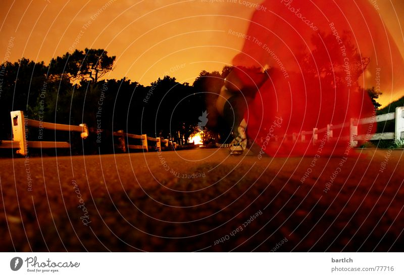 Geist in Spanien Nachtaufnahme Langzeitbelichtung Licht Geister u. Gespenster Reaktionen u. Effekte Straße