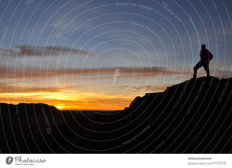 Sonnenuntergang am Messum Krater ruhig Abenteuer Ferne Freiheit Expedition wandern Landschaft Himmel Nachthimmel Horizont Sonnenaufgang Schönes Wetter Namibia