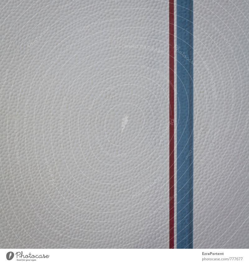 doppelte Geradlinigkeit blau weiß rot Linie Design Verkehr ästhetisch Streifen Grafik u. Illustration Zeichen Kunststoff dünn graphisch Fahrzeug dick gerade