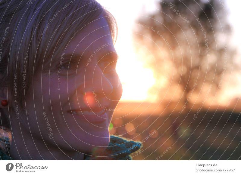 Clotilde 1 Mensch feminin Frau Erwachsene Kopf 30-45 Jahre Umwelt Natur Landschaft Himmel Sonne Sonnenlicht Sommer Pflanze Baum Wiese Lächeln lachen leuchten