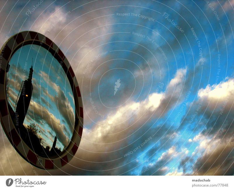 REMIX Himmel Wolken schlechtes Wetter himmlisch Götter Unendlichkeit Straßennamenschild Dinge sky clouds oben Teile u. Stücke elements above blue blau