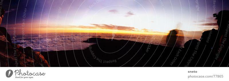 3710m Höhe Spanien Kanaren Teneriffa Ferien & Urlaub & Reisen Sonnenaufgang kalt Wolken Schwefel wandern Bergsteigen träumen Aussicht pico de teide Freiheit