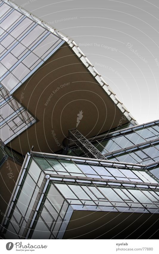 Banken sind schön aber doof ! Haus Gebäude Hochhaus Balkon Fenster Himmel grau Heimat Wolken Feierabend Wochenende Ferien & Urlaub & Reisen Hoffnung Fernweh
