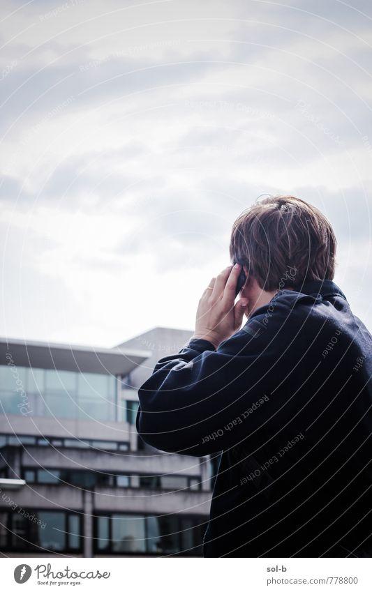 Mensch Mann Stadt Erwachsene sprechen Gebäude Stil Arbeit & Erwerbstätigkeit maskulin Lifestyle Business Kraft modern Technik & Technologie Telekommunikation