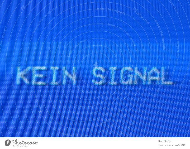 Kein Signal Bildschirmfoto Moiré-Effekt Fernsehen Blue