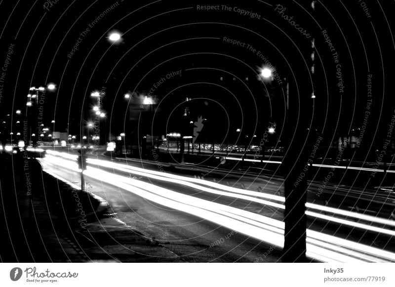 *StraßenFluß* Stadt Wolken Lampe Wege & Pfade Beleuchtung Hochhaus Geschwindigkeit Brücke Laterne Stadtrand