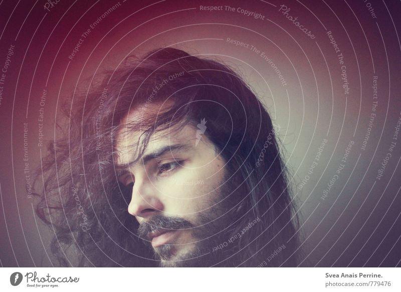 . maskulin Junger Mann Jugendliche Haare & Frisuren Gesicht 1 Mensch 18-30 Jahre Erwachsene schwarzhaarig brünett langhaarig Locken außergewöhnlich Gefühle