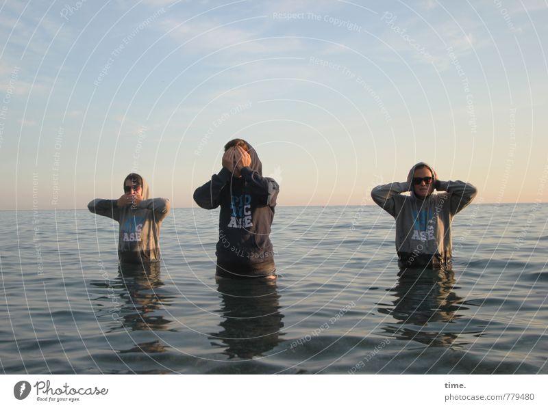 Gruppenfeeling | monkey spirit* Mensch Ferien & Urlaub & Reisen Wasser Meer Freude Ferne Umwelt feminin Küste Wege & Pfade Schwimmen & Baden Horizont