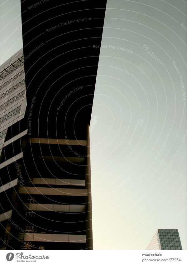 FCKING URBANLOVE - LOVE IT Himmel Stadt blau Wolken Haus Fenster Leben Architektur Gebäude Freiheit fliegen oben Arbeit & Erwerbstätigkeit Wohnung Design Wetter