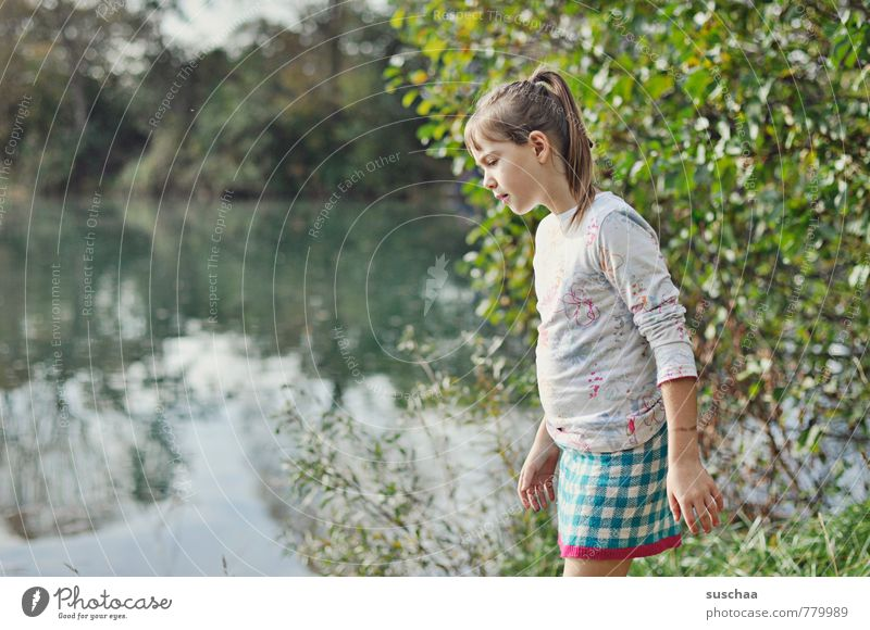 letztes jahr am see Mensch Kind Natur Wasser Sommer Baum Hand Landschaft Mädchen Umwelt Gesicht feminin Haare & Frisuren See Kopf Körper