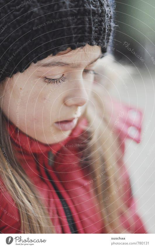 mützenträgerin II Mensch Kind Jugendliche Junge Frau ruhig Mädchen Winter Gesicht Auge Herbst feminin Haare & Frisuren Kopf Körper Kindheit Haut