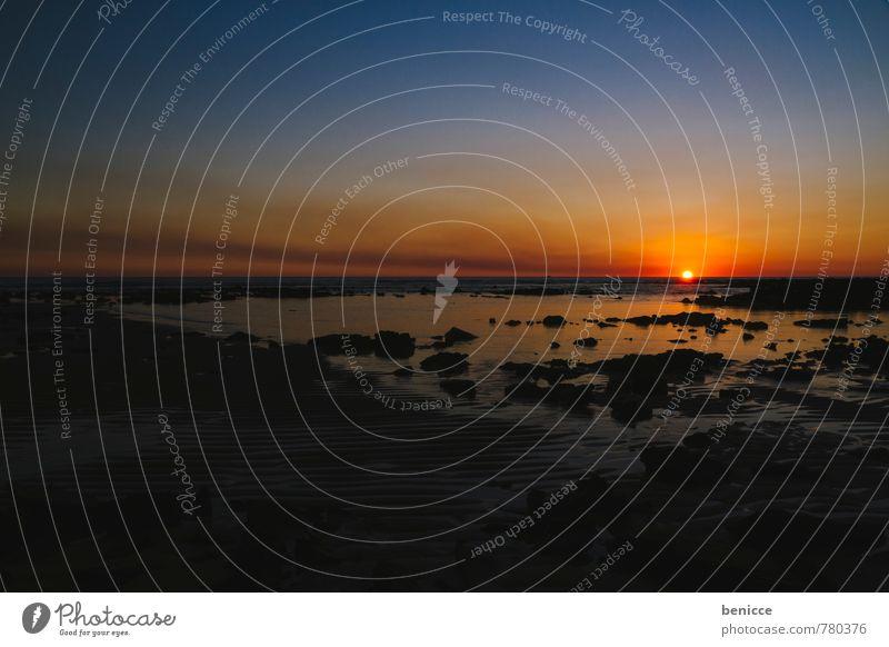 sunset in Australia Sonne Sonnenuntergang Australien Meer Küssen Himmel Wasser Sonnenaufgang Abend Morgen Dämmerung dunkel Nacht orange Farbe blau steinig