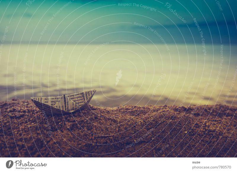 Ctrl Schiffd Enter Himmel Ferien & Urlaub & Reisen Sommer Meer Freude Strand dunkel Reisefotografie Küste Spielen Sand braun Wasserfahrzeug Freizeit & Hobby Lifestyle Kindheit