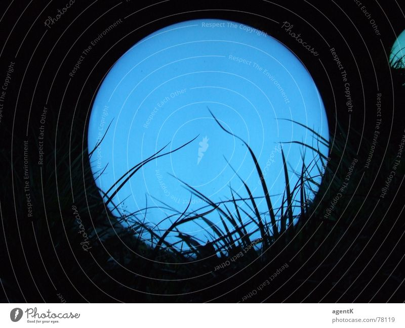 LightingBall blau Kugel Mond Leuchtrakete