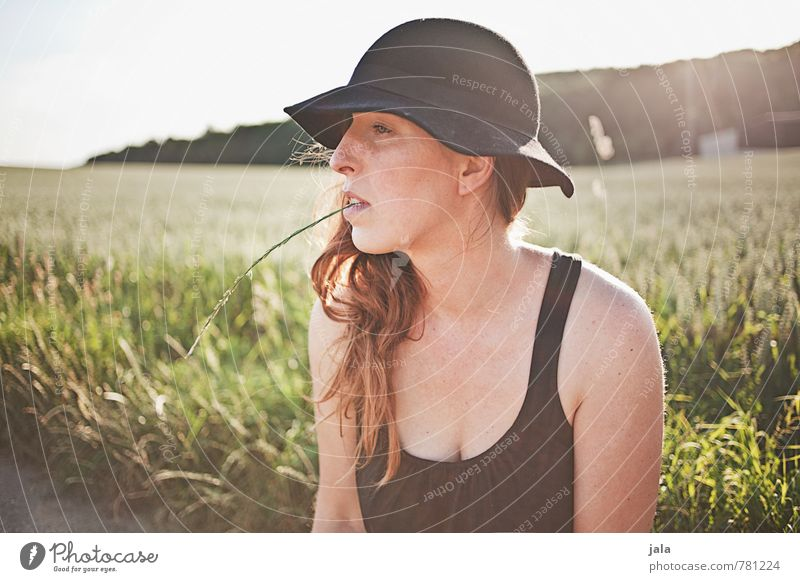 sonnig Wohlgefühl Zufriedenheit Erholung ruhig Mensch feminin Frau Erwachsene 1 30-45 Jahre Umwelt Natur Landschaft Pflanze Himmel Sommer Schönes Wetter Baum