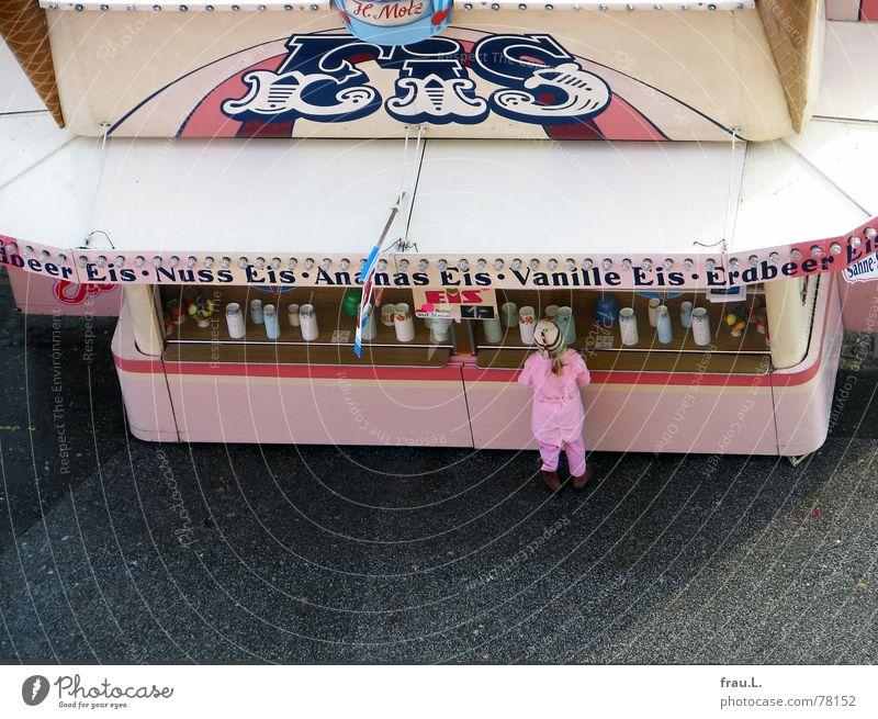 Eisbude Kind Mädchen kalt Eis rosa kaufen süß Freizeit & Hobby lecker Süßwaren Jahrmarkt Dom