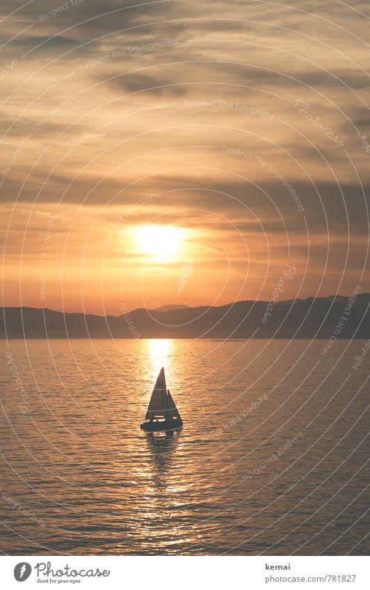 Abend am Meer Himmel Natur Ferien & Urlaub & Reisen schön Wasser Sommer Sonne ruhig Landschaft Wolken Umwelt Felsen Wellen Tourismus Ausflug
