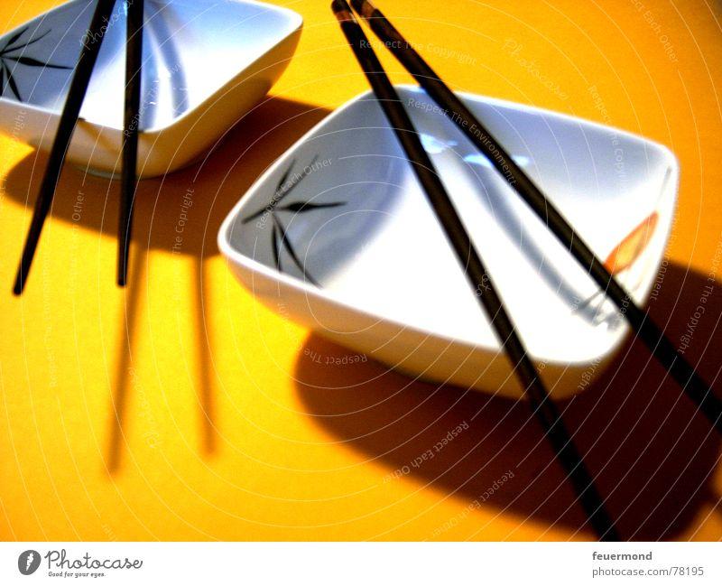 Gutä Appätiiii gelb Ernährung Asien China Japan Schalen & Schüsseln Besteck Sushi Essstäbchen Fernost