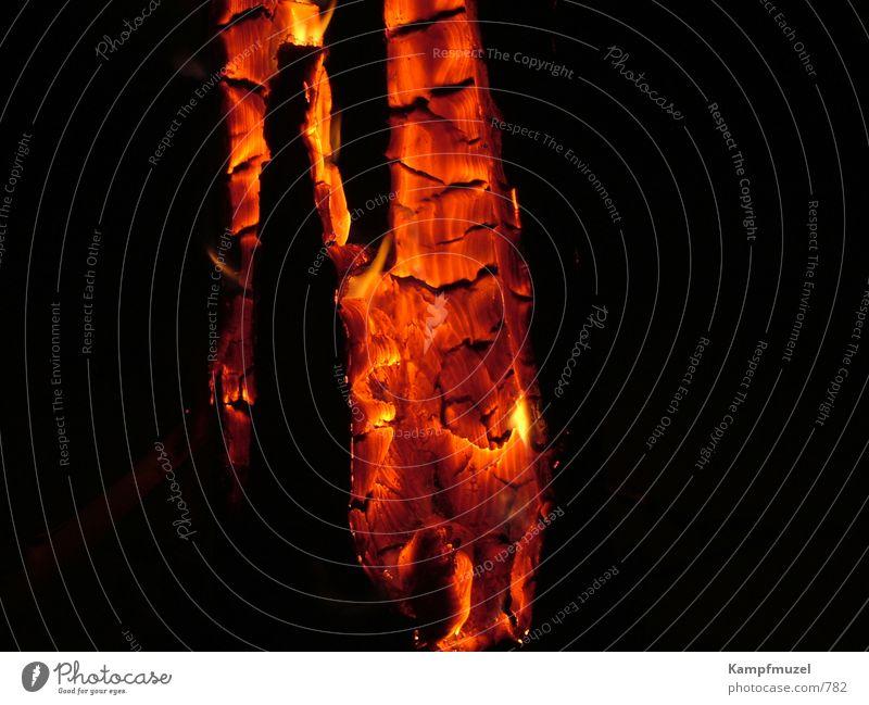 Schwedenfeuer3 Holz Brand Romantik Freizeit & Hobby brennen Glut Schwedenfeuer
