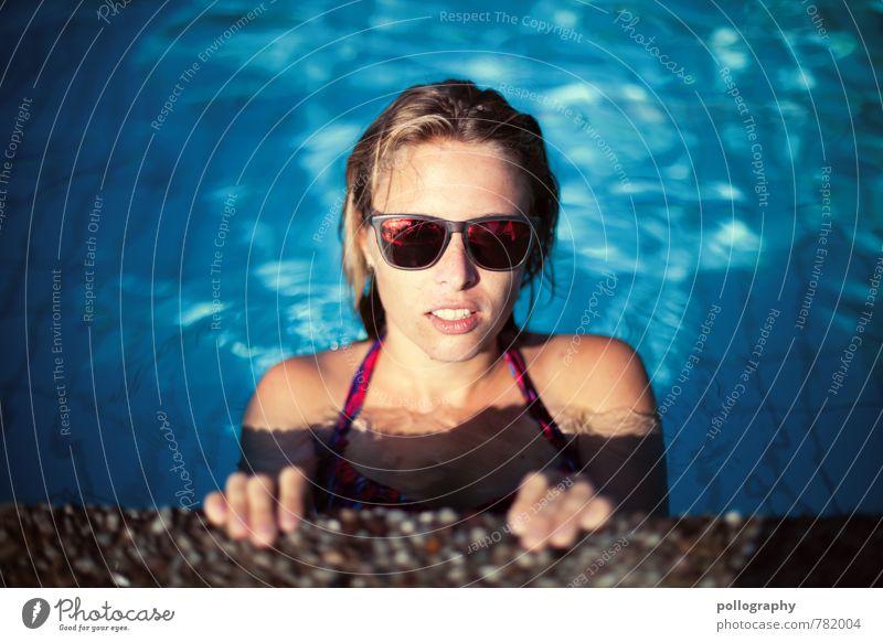 huch nicht du schon wieder Mensch Frau Ferien & Urlaub & Reisen Jugendliche schön Sommer Wasser Junge Frau Sonne 18-30 Jahre Erwachsene Leben Gefühle feminin Stimmung Kopf