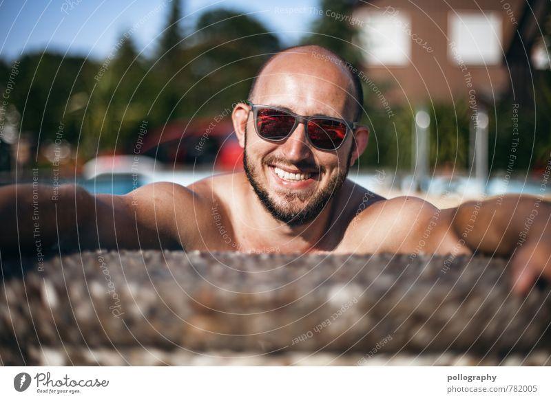 keep smile Mensch Ferien & Urlaub & Reisen Jugendliche Mann Sommer Sonne Junger Mann Freude 18-30 Jahre Erwachsene Leben Gefühle Glück Stimmung Kopf Lifestyle