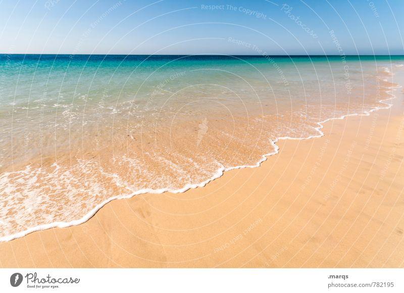 Welle Natur Ferien & Urlaub & Reisen schön Sommer Erholung Meer Einsamkeit Landschaft Strand Ferne Umwelt Küste Freiheit hell Horizont Lifestyle