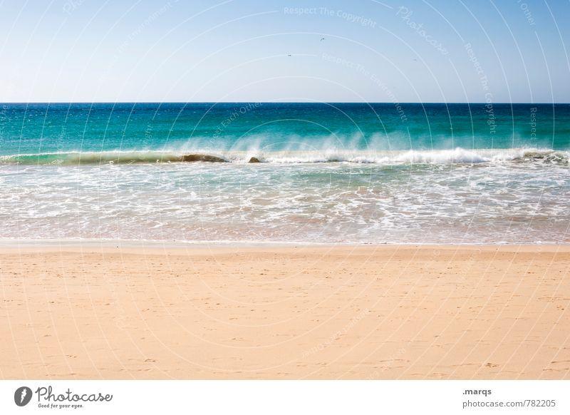 Verrauscht Lifestyle Wellness Wohlgefühl Zufriedenheit Erholung ruhig Ferien & Urlaub & Reisen Sommer Sommerurlaub Strand Meer Wellen Natur Landschaft