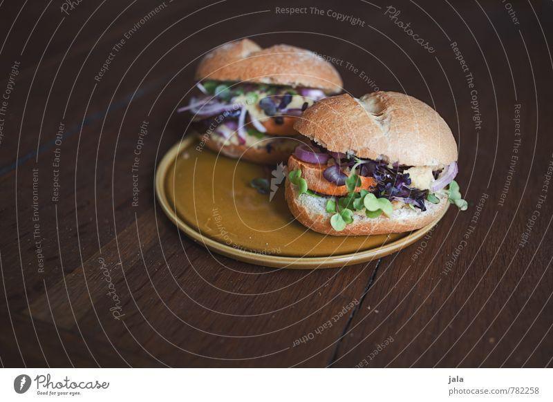 veggie burger Lebensmittel Gemüse Salat Salatbeilage Brötchen Burger belegtes Brötchen Ernährung Mittagessen Bioprodukte Vegetarische Ernährung Slowfood Teller