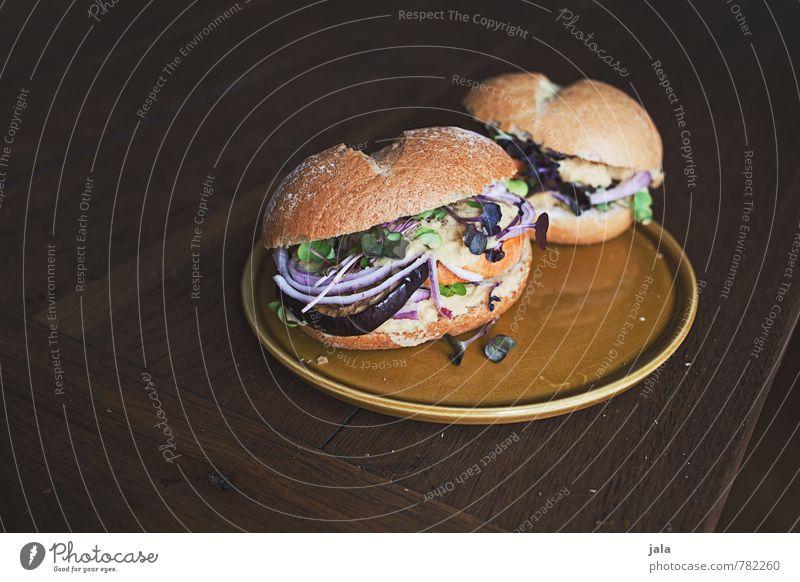 burger Lebensmittel Gemüse Salat Salatbeilage Brötchen Hamburger Zwiebel süßkartoffel Aubergine sprossen Ernährung Mittagessen Bioprodukte