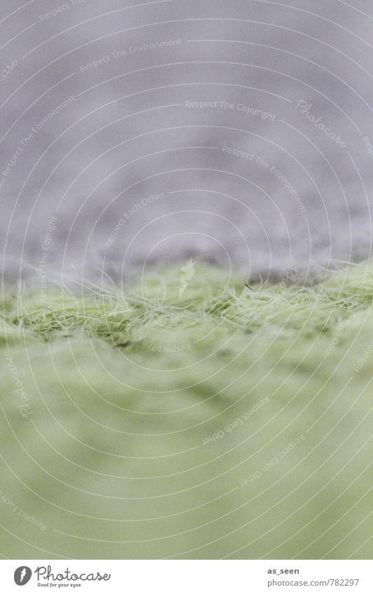 Auf dem Teppich bleiben ruhig Meditation Häusliches Leben Wohnung einrichten Innenarchitektur Teppichknüpfer Stoff liegen fest hell grün violett ästhetisch