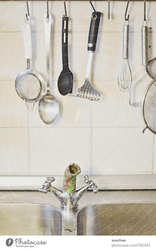 innovatives küchenkrisenmanagement Trinkwasser Küche Metall Küchenspüle Wasserhahn Manuelles Küchengerät Rührbesen Sieb Fliesen u. Kacheln Knetmasse Idee