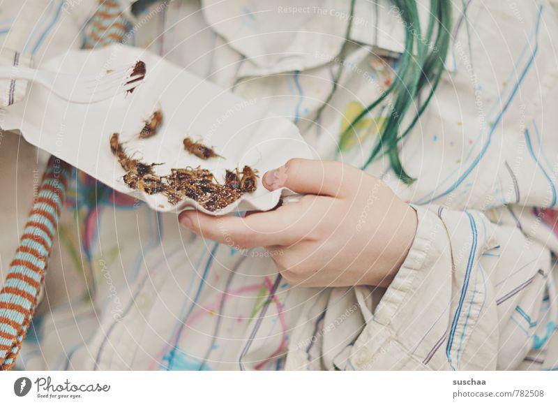 eiweiß mal anders feminin Kind Mädchen Haut Haare & Frisuren Hand Finger 1 Mensch 8-13 Jahre Kindheit Zoo Essen Ekel exotisch gruselig lecker Hülle Insekt