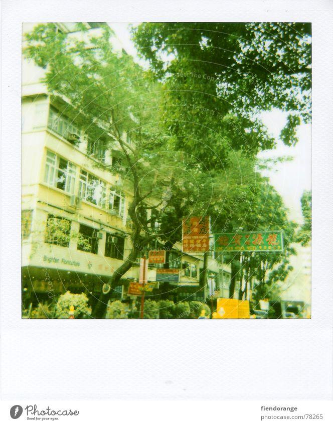 hk street Hongkong Ferne Straße Leben Polaroid central fremd