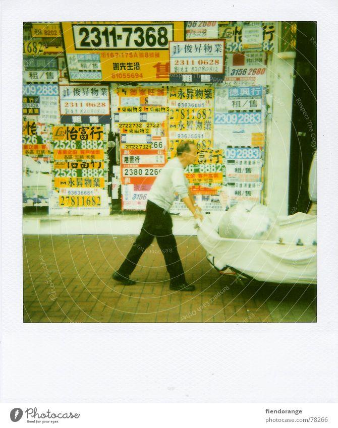 chinese step Mann Leben China Schilder & Markierungen Polaroid schreiten Hongkong Eindruck Karre