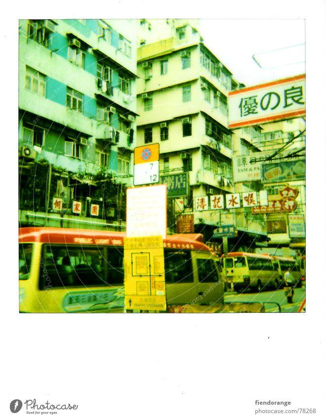 hkliving Hongkong Schilder & Markierungen fremd Krach Verkehrsstau Polaroid Bus kantonesisch Straße