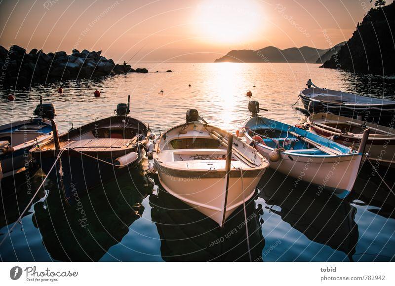 Rowboat Pt. 3 Ferien & Urlaub & Reisen Ausflug Ferne Freiheit Sommer Sonne Wellen Wolkenloser Himmel Schönes Wetter Küste Bucht Meer Hafenstadt Bootsfahrt