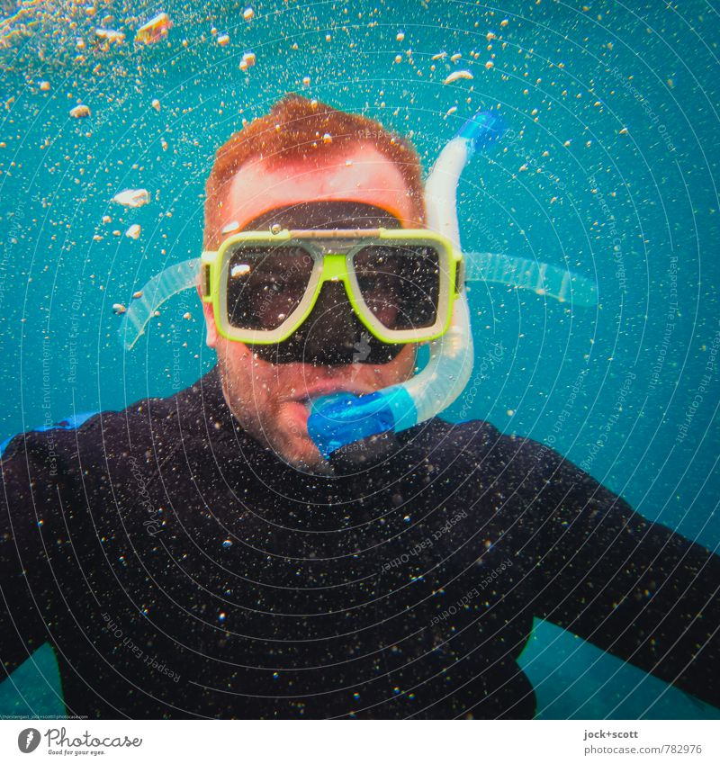 Snorkeling Expedition Wassersport Schnorcheln Tauchgerät Taucherbrille Mann Kopf Pazifik Neoprenanzug rothaarig kurzhaarig Bart tauchen erleben Freizeit & Hobby