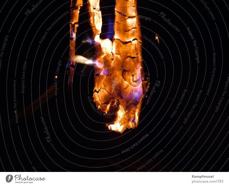 Schwedenfeuer1 Holz Brand Romantik Freizeit & Hobby brennen Schwedenfeuer