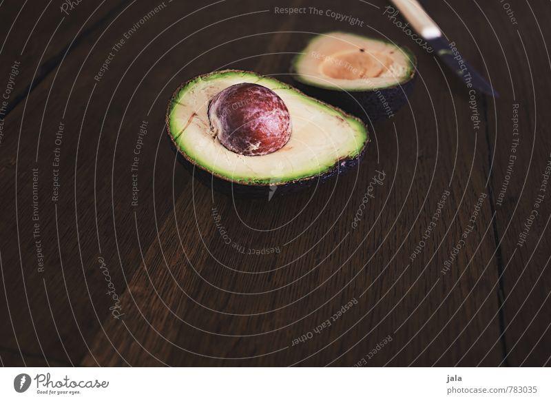 avocado Gesunde Ernährung natürlich Gesundheit Lebensmittel Gemüse lecker Appetit & Hunger Bioprodukte Messer Vegetarische Ernährung Holztisch Avocado