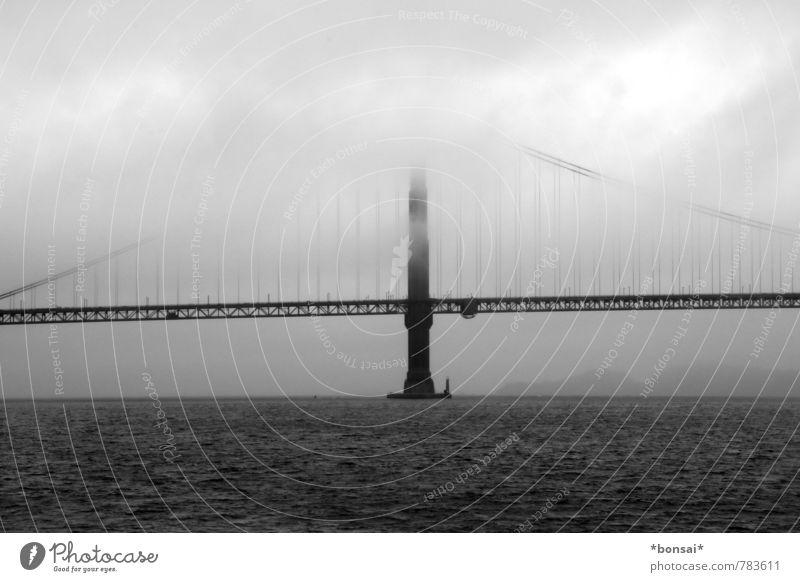 nebel... Himmel Ferien & Urlaub & Reisen Wasser Wolken dunkel Horizont Nebel Kraft Design Zufriedenheit groß hoch Brücke Güterverkehr & Logistik historisch fahren